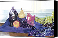 Still Life Canvas Prints - Something Fishy Canvas Print by Cindy Lee Longhini