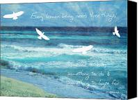 Waves Mixed Media Canvas Prints - Something to hope for Canvas Print by Tia Helen