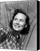 1950s Movies Canvas Prints - Something To Live For, Teresa Wright Canvas Print by Everett