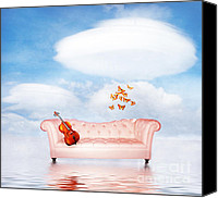 Pink Clouds Digital Art Canvas Prints - Sometimes...All I need Canvas Print by Photodream Art