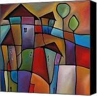 Wine Art Canvas Prints - Somewhere Else - Abstract Pop Art by Fidostudio Canvas Print by Tom Fedro - Fidostudio