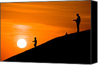 Childs Canvas Prints - Son catch the Sun Canvas Print by Okan YILMAZ