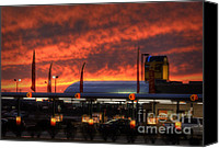 Sonic Canvas Prints - Sonic Sunset Canvas Print by Fred Lassmann
