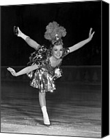 Skates Canvas Prints - Sonja Henie, 1930s Canvas Print by Everett
