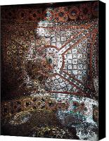Byzantine Canvas Prints - Sophia Ceiling Mural Canvas Print by John Rizzuto
