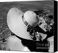 Woman In Water Photo Canvas Prints - Sophia Canvas Print by Karen Wiles