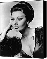 Updo Canvas Prints - Sophia Loren, In Costume For Arabesque Canvas Print by Everett