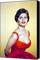 1950s Fashion Canvas Prints - Sophia Loren, Late 1950s Canvas Print by Everett