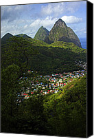 Williams Canvas Prints - Soufriere Village- St Lucia Canvas Print by Chester Williams