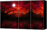 Triptych Canvas Prints - Soul Observer Canvas Print by Lourry Legarde