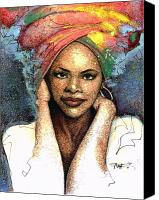African American Female Canvas Prints - Soul Of A Woman   Canvas Print by  Albert Fennell