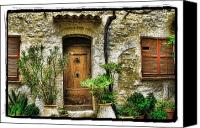 Door Pyrography Canvas Prints - South of France 1 Canvas Print by Mauro Celotti