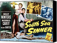 1950 Movies Canvas Prints - South Sea Sinner, Shelley Winters Canvas Print by Everett