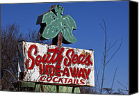 Signage Photo Canvas Prints - South Seas Sign Canvas Print by Garry Gay