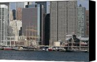 South Street Seaport Canvas Prints - South Street Seaport from Brooklyn Canvas Print by Christopher Kirby