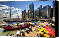 South Street Seaport Canvas Prints - South Street Seaport Canvas Print by Yhun Suarez