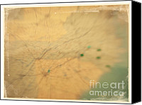 Abstract Map Canvas Prints - Southeast US Canvas Print by Paulette Wright