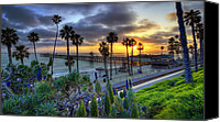 Stop Canvas Prints - Southern California Sunset Canvas Print by Sean Foster