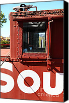 Old Caboose Canvas Prints - Southern Pacific Caboose - 5D19235 Canvas Print by Wingsdomain Art and Photography