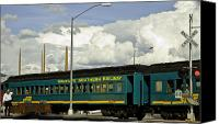 Santa Fe Canvas Prints - Southern Railway Canvas Print by Madeline Ellis