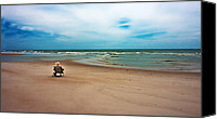 Topsail Island Canvas Prints - Space Canvas Print by East Coast Barrier Islands Betsy A Cutler
