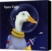 Outer Space Canvas Prints - Space cadet... Canvas Print by Will Bullas