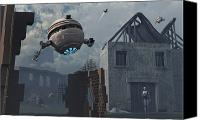 Ruins Canvas Prints - Space Probes And Androids Survey An Canvas Print by Mark Stevenson