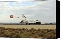 Braking Canvas Prints - Space Shuttle Discovery Deploys Canvas Print by Stocktrek Images