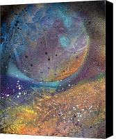 Limited Edition Mixed Media Canvas Prints - Space Weather Canvas Print by Anna Randolph