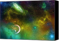 Black Hole Canvas Prints - Space001 Canvas Print by Svetlana Sewell