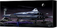 Rocketship Canvas Prints - Spaceport Earth Canvas Print by Bill Wright