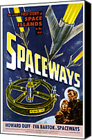 1950s Poster Art Canvas Prints - Spaceways, Eva Bartok, Howard Duff Canvas Print by Everett