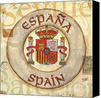 Coat Of Arms Canvas Prints - Spain Coat of Arms Canvas Print by Debbie DeWitt