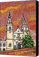 Spirituality Mixed Media Canvas Prints - Spanish Church Canvas Print by Sarah Loft