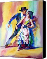 Most Sold Canvas Prints - Spanish Dance Canvas Print by David Lloyd Glover