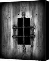 Window And Doors Canvas Prints - Spanish fort window Canvas Print by Perry Webster