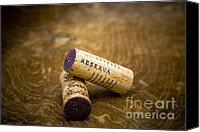 Macro Canvas Prints - Spanish wine corks - Reserva and Gran Reserva Canvas Print by Frank Tschakert