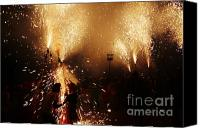 Pyrotechnics Canvas Prints - Sparked Canvas Print by Agusti Pardo Rossello