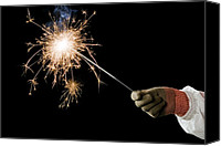 Pyrotechnics Canvas Prints - Sparkler Demonstration Canvas Print by Martyn F. Chillmaid