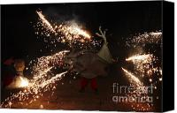 Pyrotechnics Canvas Prints - Sparkling dragon Canvas Print by Agusti Pardo Rossello