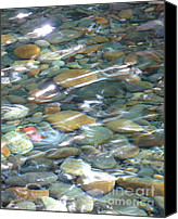 Natural Abstract Canvas Prints - Sparkling Water on Rocky Creek Canvas Print by Carol Groenen