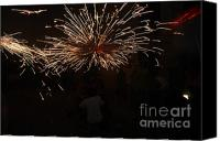 Pyrotechnics Canvas Prints - Sparks Canvas Print by Agusti Pardo Rossello