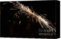 Pyrotechnics Canvas Prints - Sparks disco Canvas Print by Agusti Pardo Rossello