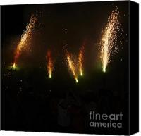 Pyrotechnics Canvas Prints - Sparks of pens Canvas Print by Agusti Pardo Rossello