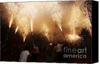 Pyrotechnics Canvas Prints - Sparks rain 2 Canvas Print by Agusti Pardo Rossello
