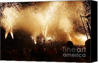 Pyrotechnics Canvas Prints - Sparks rain Canvas Print by Agusti Pardo Rossello