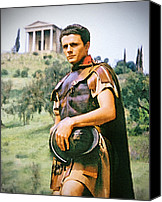 Rome Mixed Media Canvas Prints - Spartacus Canvas Print by Chuck Staley