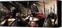 Portraits Canvas Prints - Spartans 300 Canvas Print by James Shepherd
