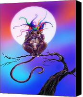 Kd Neeley Canvas Prints - Speak No Evil Canvas Print by Kd Neeley