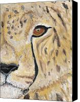 Cheetah Painting Canvas Prints - Speed Canvas Print by Davis Elliott